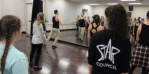 Star Council members in tap class