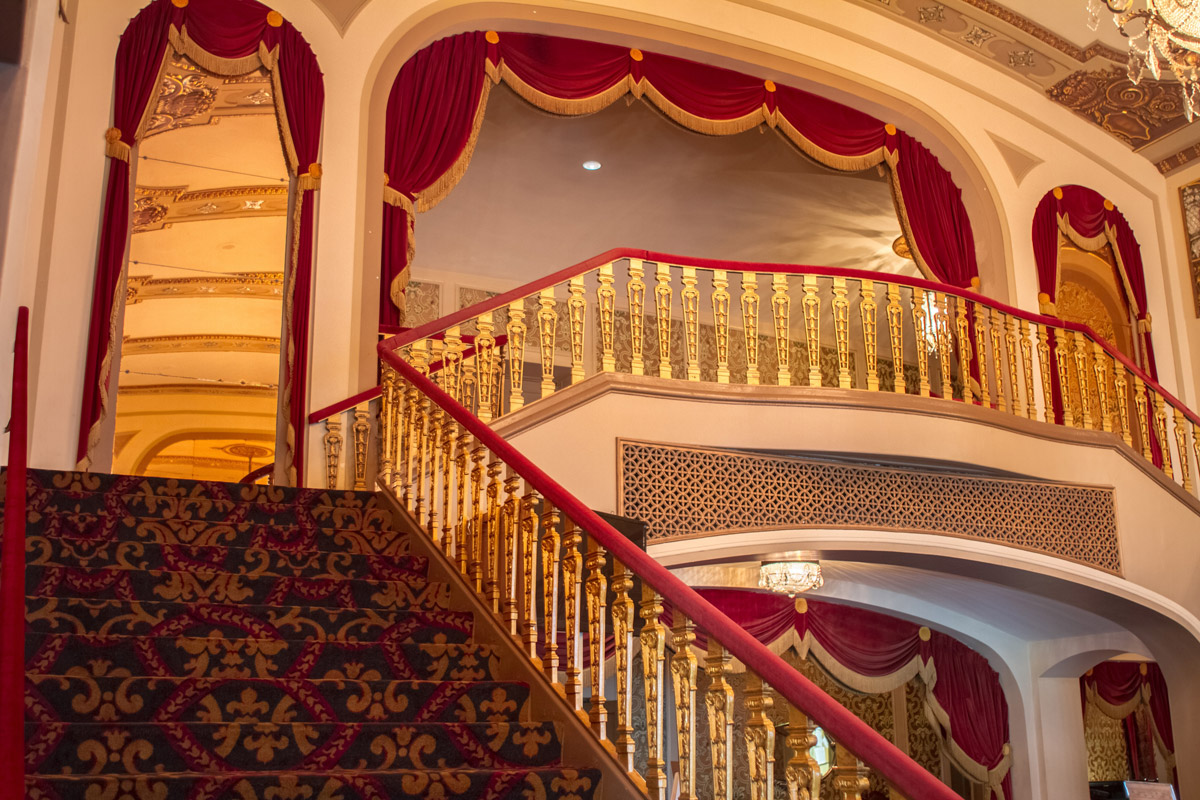 Grand staircase in Orpheum lobby