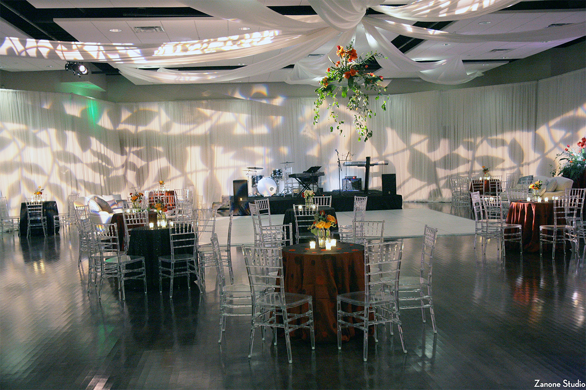 Reception Hall set up for wedding reception