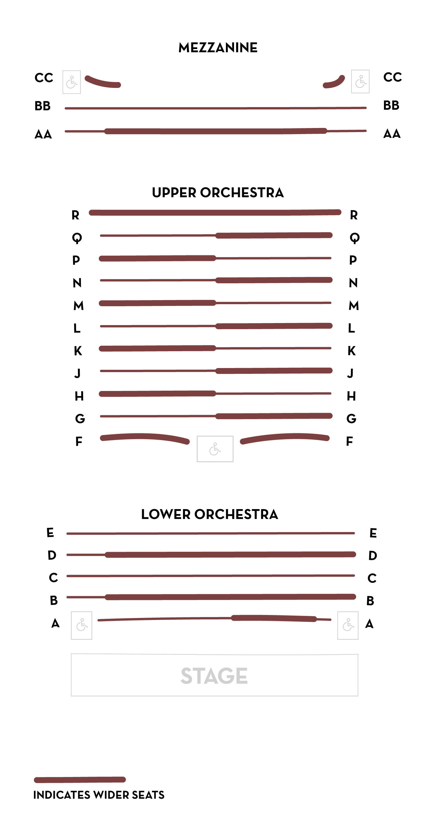 Halloran Centre main auditorium seating chart